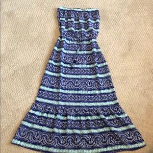 Vineyard Vines Strapless Silk Dress
